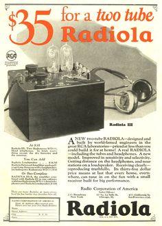 RCA Radiola III, vintage radio advertisement (1924)