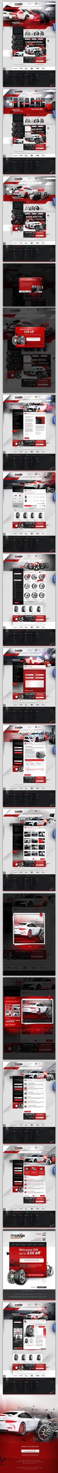 store site Prestige tyre and auto by creativehead, via Behance