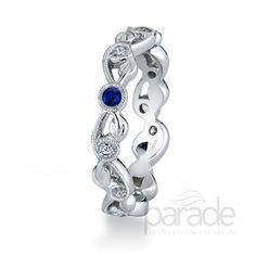 Style Number: BD2556A-SA   Lyria stackable birthstone ring featuring Blue Sapphire for September. Available in all birthstones.