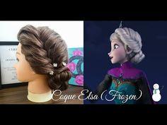 Penteados: Coque Estilo Elsa (Frozen) - YouTube