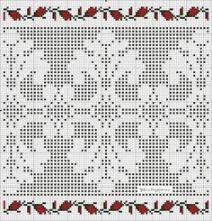 @nika Filet Crochet, Crochet Art, Thread Crochet, Knitting Charts, Lace Knitting, Hand Embroidery Designs, Embroidery Patterns, Cross Stitch Embroidery, Cross Stitch Patterns