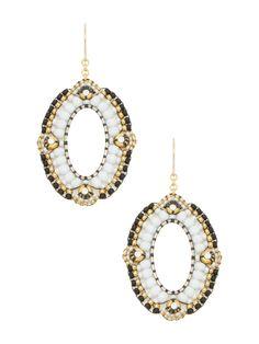 Swarovski Crystal Two-toned Beaded Earring
