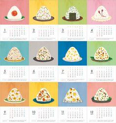 2019年卓上カレンダー「おにぎりと器」/ シールつき | ハンドメイドマーケット minne Graphic Design Magazine, Magazine Design, Kalender Design, Creative Calendar, Food Icons, Diy Workshop, Free Printable Calendar, Design Poster, Identity