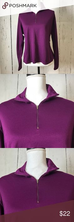 """Patagonia purple 3/4 zip capilene Pit to pit 24"""" Length 24.5""""  Same or next day shipping Patagonia Tops"""