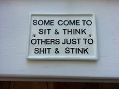 funny signs humorous plaques toilet signhouse by BensSigns on Etsy #Bathroomhumor
