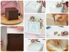 baby block cake process