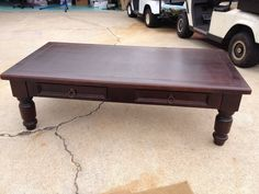 CARK Wood Coffee Table with Two Drawers | eBay