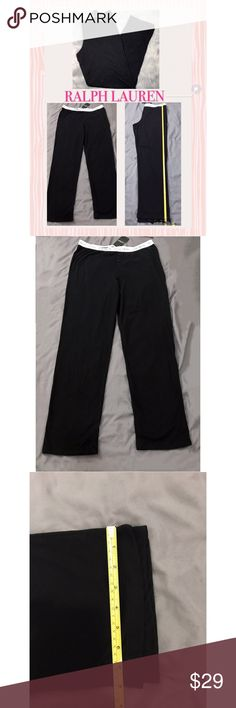 """New Ralph Lauren Jersey Knit Lounge/Pajama Pants L NWT Ralph Lauren Black 100% Cotton Jersey Knit Lounge/Pajama Pants L.     These are gorgeous lounge/pajama pants from Lauren by Ralph Lauren, size L, new with tags. They're black,The waistband is black elastic and says Lauren Ralph Lauren all around. There are 2 black buttons on the faux fly, and the inseam is approx. 32"""". The fabric is soft cotton knit, lightweight and very comfy! Most any top will look great with these cute…"""