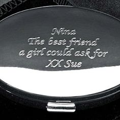 I Just Love ItPersonalised Oval Compact Mirror Engraved Gifts, Personalized Gifts, Sterling Silver Cufflinks, Silver Gifts, Compact Mirror, Book Gifts, Memorable Gifts, Gifts For Girls, Trinket Boxes