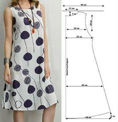 Fashion Sewing, Diy Fashion, Fashion Dresses, Sewing Patterns Free, Clothing Patterns, Fashion Patterns, Sewing Clothes, Diy Clothes, Dress Making Patterns