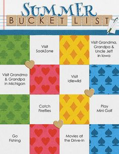 Summer Bucket List ~ Template & kit from the You Game? bundle by Meagan's Creations.