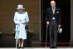 Both the Queen and Prince Philip were prepared for the weather