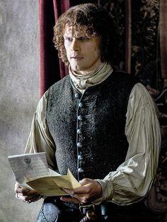 "Jamie Fraser (Sam Heughan) in Episode 208 ""The Fox's Lair"" of Outlander Season Two on Starz."