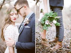 Practical shoes for a woodsy wedding