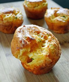 Savory Cheese Popovers - Just saw some hints on popovers from Diners, Drive-Ins and Dives...make sure to use a popover pan not a muffin pan.  Make sure the batter isn't cold (get your ingredients to room temperature).  Make sure your popover pan is hot.  The oil doesn't necessarily have to be (and you can use spray oil), but the pan has to be!