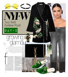 """""""NYFW Day-2"""" by rizca-amani on Polyvore featuring BLVD Supply, RIXO London, Yves Saint Laurent, Casetify, Gucci and Child Of Wild"""