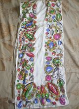 Anne Klein for Vera Silk Scarf Jewels Oblong