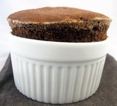 Chocolate souffle - freeze & make in advance from Cooks Illustrated