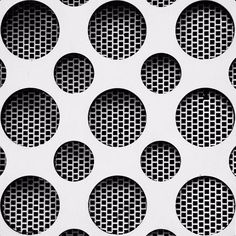 Monochrome circle & grid patterns in architecture Graphic Pattern, Graphic Design, Facade Design, Wall Design, Surface Pattern, Surface Design, Texture Sol, Facade Pattern, Motifs Textiles