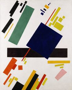 Suprematist Composition by Malevich - Don't know what it is about this one, but I love how perfectly tilted everything is...I think I just really love art that calms the OCD in me.