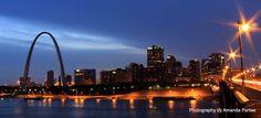 Beautiful Downtown Saint Louis. Low Light Photog