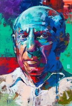 Picasso, inch, acrylic on canvas Abstract Portrait, Portrait Art, Abstract Art, Expressionist Portraits, Art Sketches, Art Drawings, Modern Pop Art, Art For Art Sake, Oeuvre D'art
