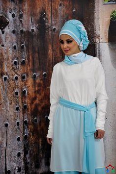 Ayşe Tasarım Mavi-Beyaz Şifon Türban (2)   Armine   Setrms   Kayra   Aker   Alvina
