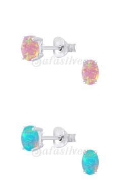 Safasilver - 925 Silver Jewelry - Opal Ear Studs Opal stones are very much beautiful & attractive in shine. It seems like a galaxy and fire design the abstract inner shine are very impressive. The color and abstract design were conflated to form a fantastic design that you will Love it. Opal gem ear studs are very much precious in look and affordable in price. For more www.safasilver.com.