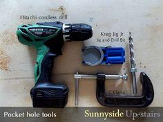 Sunnyside Up-stairs: Pocket hole tools