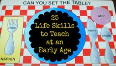 In Lieu of Preschool: 25 Life Skills to Teach at an Early Age
