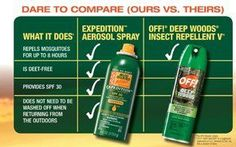 """off"" compared to Avon bug guard.. see the difference and order today!!  www.youravon.com/KatiChurch"