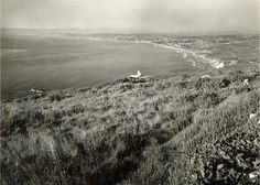c 1920's above the La Venta Inn in Palos Verdes, California. The undeveloped hills and view of the South Bay. Classic.