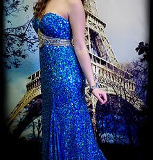 Blue Sparkle Ballgown.  Find your perfect prom gown at Fancy Schmancy! 641 Loudon Rd., Latham, NY.  #ballgown #dress #holiday #highschool  #prom #prom2015 #fancyschmancy #upstateNY #latham #gorgeous #wedding #sparkle  #sexy #blue #sequins