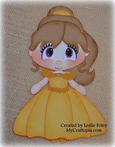 Disney Princess Belle Premade Scrapbooking adorno papel