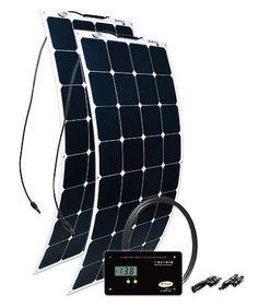 Go Power! (GP-FLEX-200) 200W Flexible Mono Crystalline Solar Kit with 30 Amp PWM Solar Controller