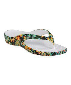 Look what I found on #zulily! Shagadelic Black LoudMouth® Flip-Flop - Women #zulilyfinds