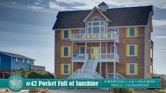 CLICK FOR VIDEO |  Just steps from the beach and the sound, Pocket Full of Sunshine offers the best of both worlds when it comes to outdoor activities, you get spectacular views from sunrise to sunset. Select Spring weeks are 10% off. #HatterasFun #VisitHI_NC