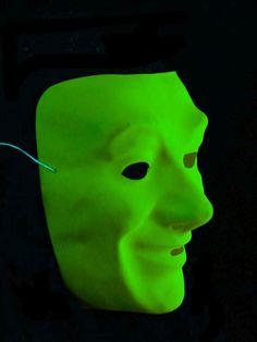 UV Schwarzlicht Neon Gesichtsmaske Gelb  #blacklight #schwarzlicht #neon #party #karnevall  #fasching #mask
