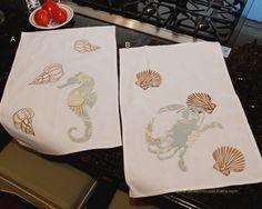 Natural Shells Applique Kitchen Towel