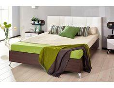 Postel Delia 280, 160×200 cm Nábytek Delia je moderním řešením s nádechem retra do vaší ložnice. Designem patří kolekce mezi představitele retro dstylu, který působí originálně. Kombinace čistých linií s čokoládově hnědým dekorem s bílým … Beds, Furniture, Design, Home Decor, Decoration Home, Room Decor, Home Furnishings, Bedding