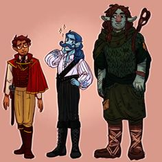 *Griffin voice* Now that's a boy I can get into! [ID: From left to right: Sir Fitzroy Maplecourt is a half elf man with tan skin and short, reddish brown hair and light facial hair. Adventure Zone Podcast, The Adventure Zone, Fantasy Costco, Mcelroy Brothers, Ty Babies, The Zone, Art Prompts, Cosplay Tutorial, Tag Art