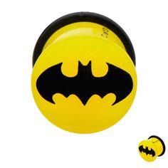 DC Comics Batman Yellow Single Flair Ear Acrylic Plugs Gauges 0G