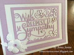 A Peek Inside The Creative Corner: New Sympathy Die from Impression Obsession