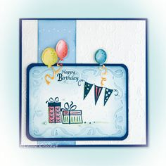 Leane Creatief stansmal 45.3264 Balloons | stempel 55.3363 Party Stamping, Balloons, Happy Birthday, Party, Happy Brithday, Globes, Urari La Multi Ani, Stamps, Balloon