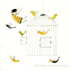 Love the colours and original form of the birds. Illustrator: Simona Dimitri