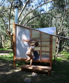 studio rain revives bathing culture with an off-grid sauna installation in melbourne Saunas, Prefabricated Structures, Building A Sauna, Sauna Design, Design Design, Outdoor Sauna, Sauna Room, Interactive Installation, Construction Process