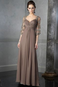 4 Sleeve Formal Elegant Prom Gown picture 1
