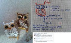 Gufetto brick stitch di Francesca Agostini