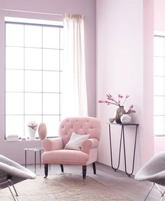 Salon rose candy: A sweet and perfectly feminine decorating idea - Home Page Interior Pastel, Deco Pastel, Pastel Pink, Soft Pastels, Pastel Colours, Bright Colors, Deco Rose, Vibeke Design, Pastel House