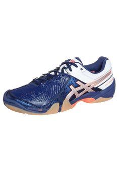 ASICS GEL-DOMAIN 3 - Handballschuh - navy/lightning white - Zalando.de #AS142A098-K11 #ASICS #null #blau #blau #blue #handball #wettkampf #indoor #halle - Handball spielen - Handball spielen